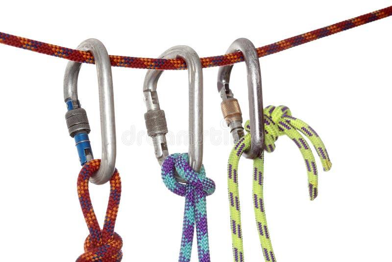 Trois crochets s'élevants photographie stock libre de droits