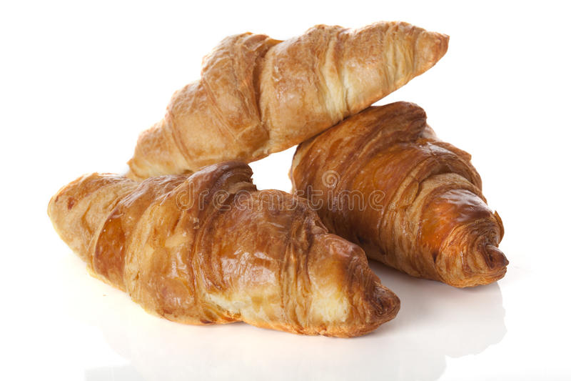 Trois croissants photo libre de droits