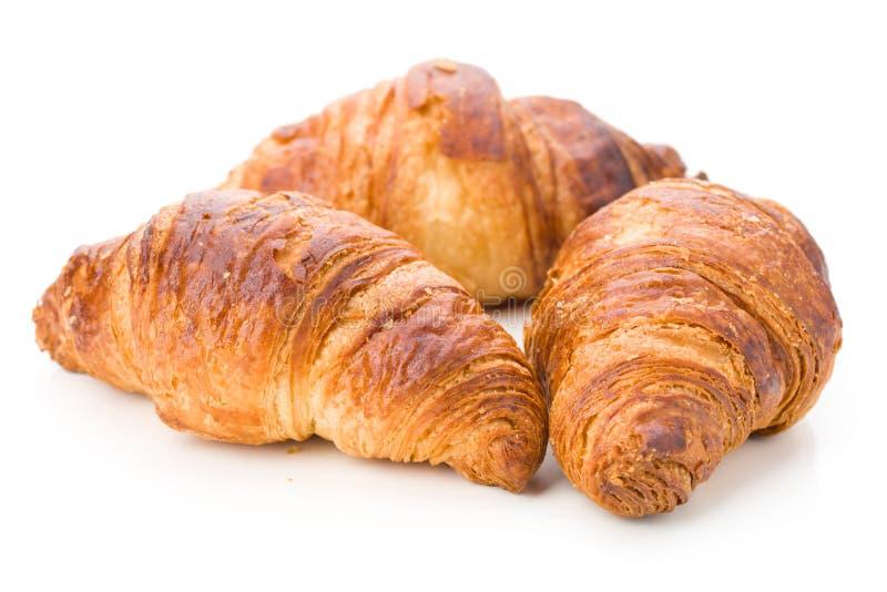 Download Trois Croissants Tendres, D'isolement Image stock - Image du offre, boulangerie: 76086831