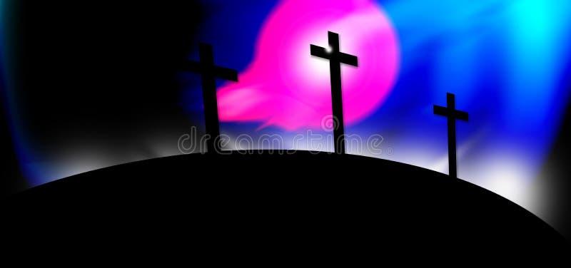 Trois croix illustration de vecteur