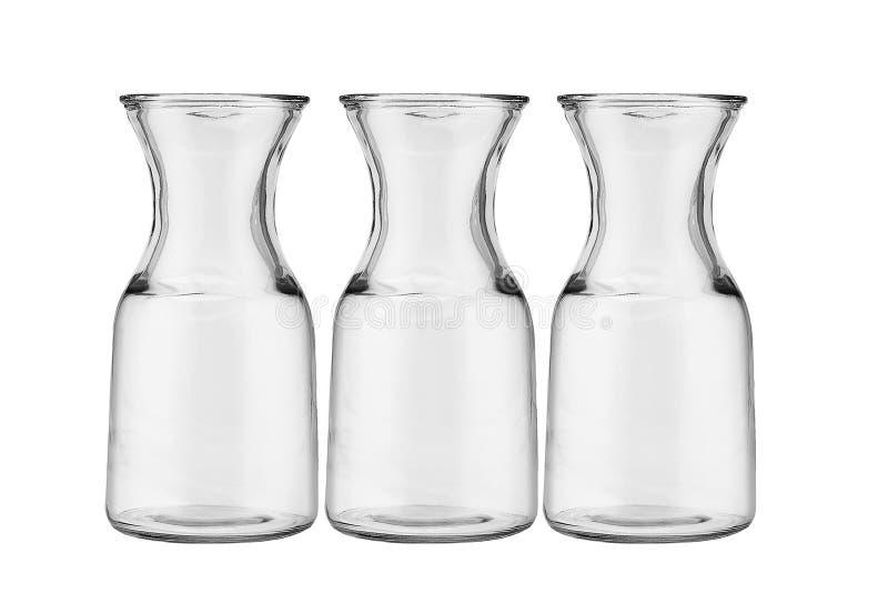 Trois cruches en verre photo stock
