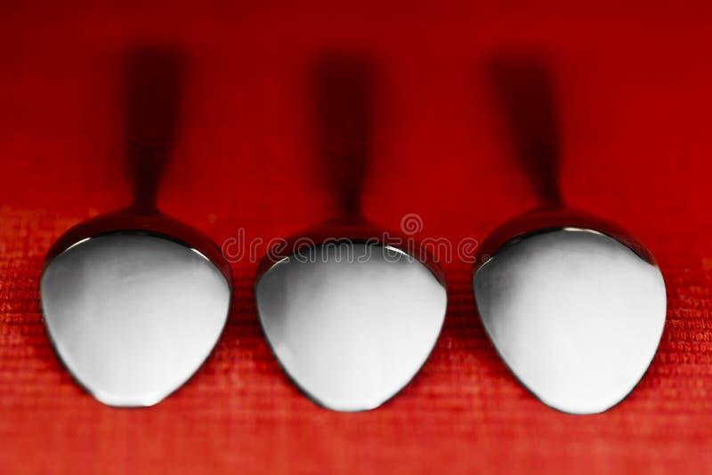 Trois cuillères photo libre de droits