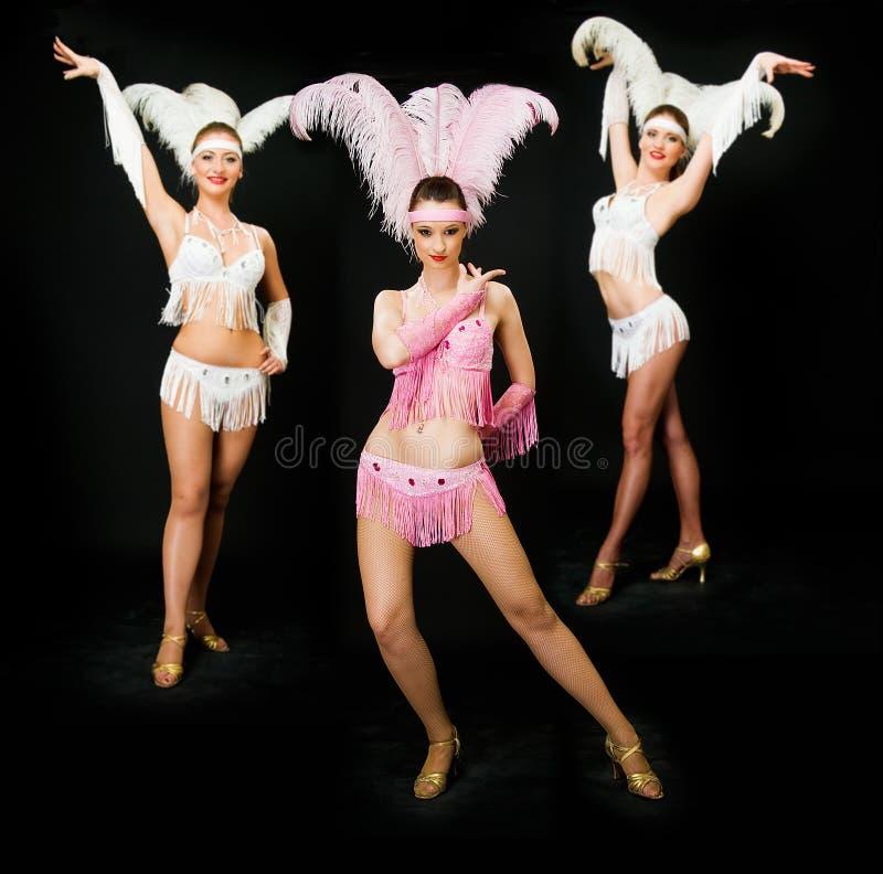 Trois danseurs photographie stock