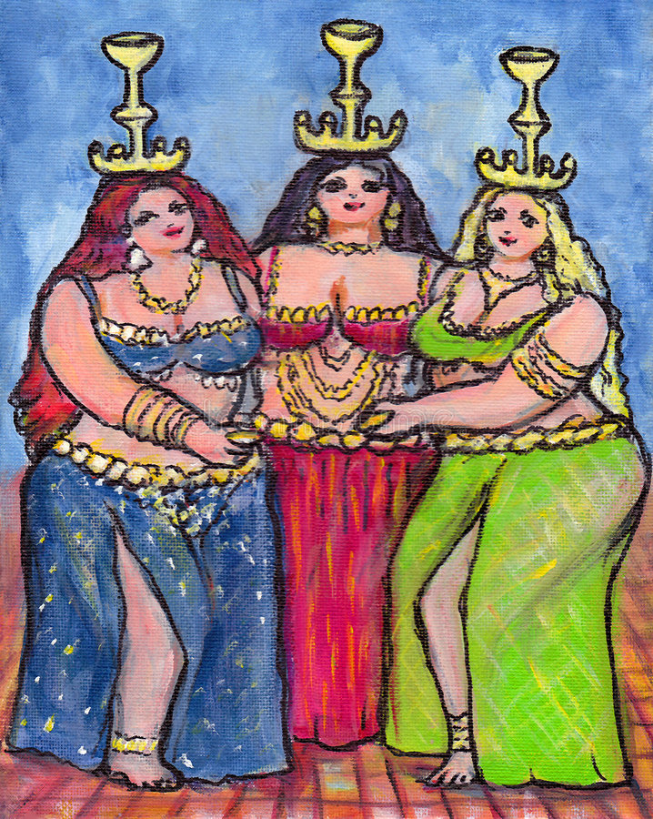 Trois danseurs de ventre illustration libre de droits