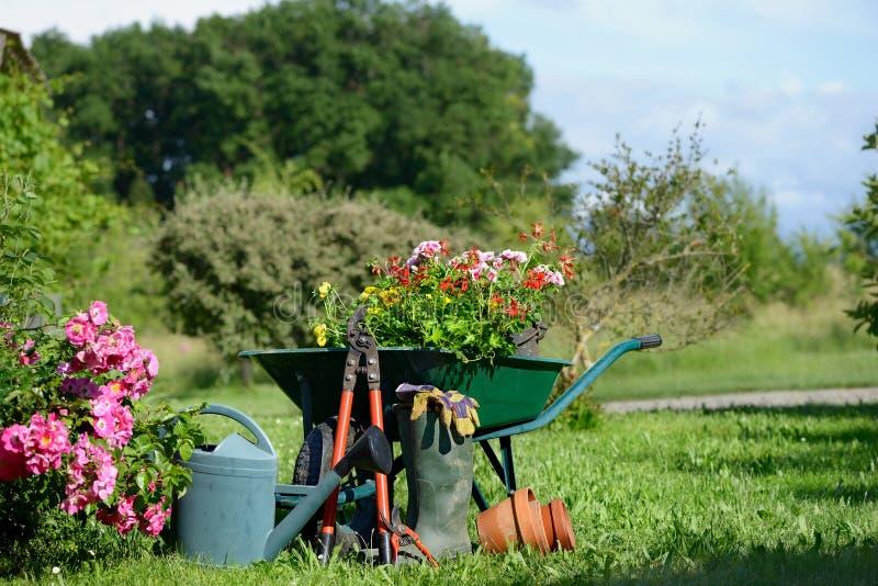 Trois de jardinage photos stock