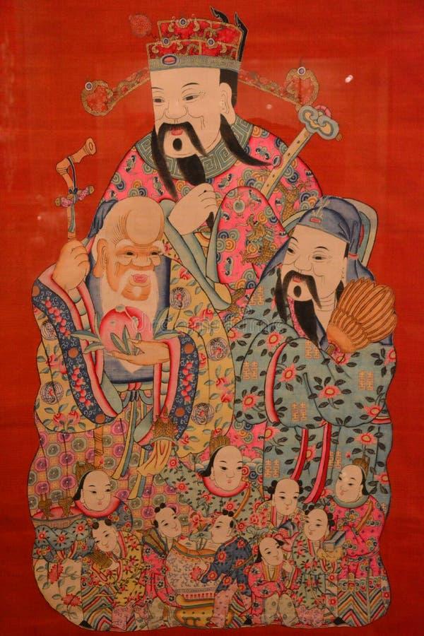 Trois dieux de sacrifice chinois illustration libre de droits