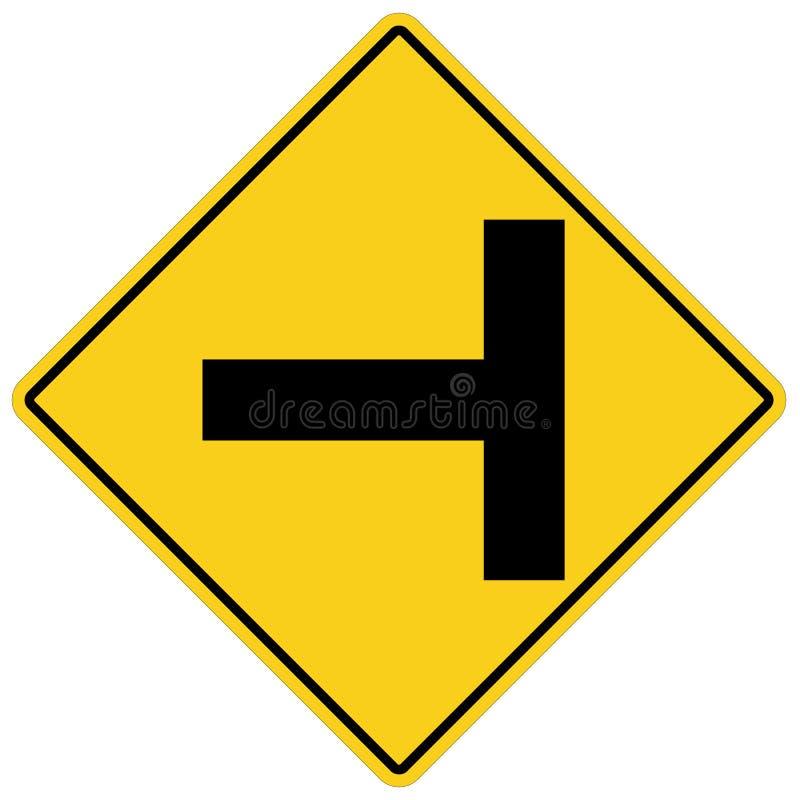 Trois distincts se connecte le fond blanc Style plat précaution pour le signe de circulation routière de virage à gauche pour vot illustration libre de droits