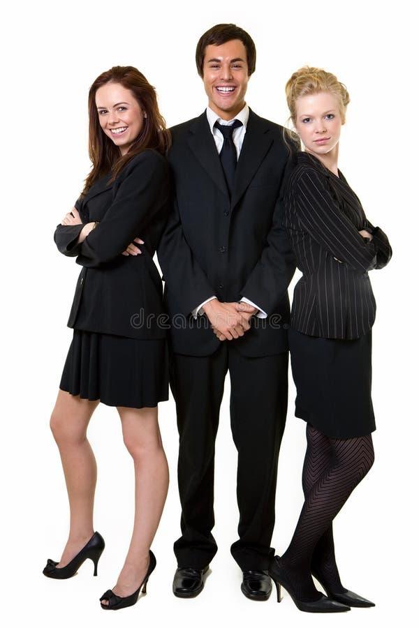 Trois employés de bureau photographie stock