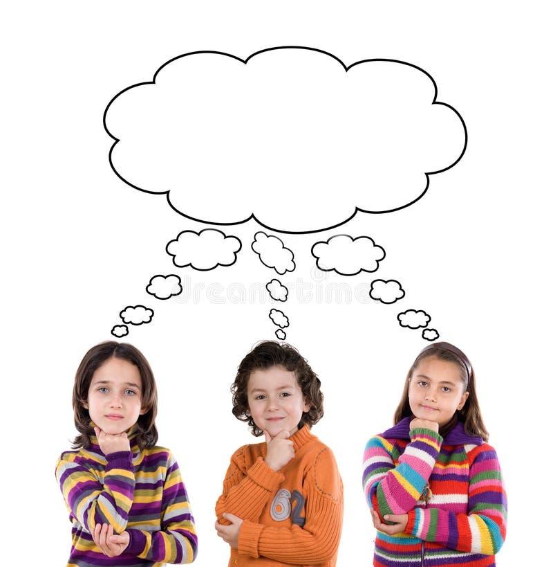 Trois enfants adorables image libre de droits