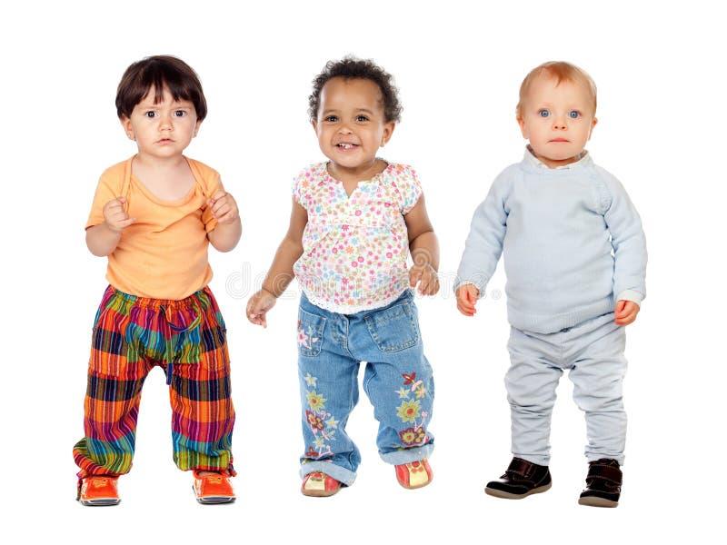Trois enfants drôles photo libre de droits