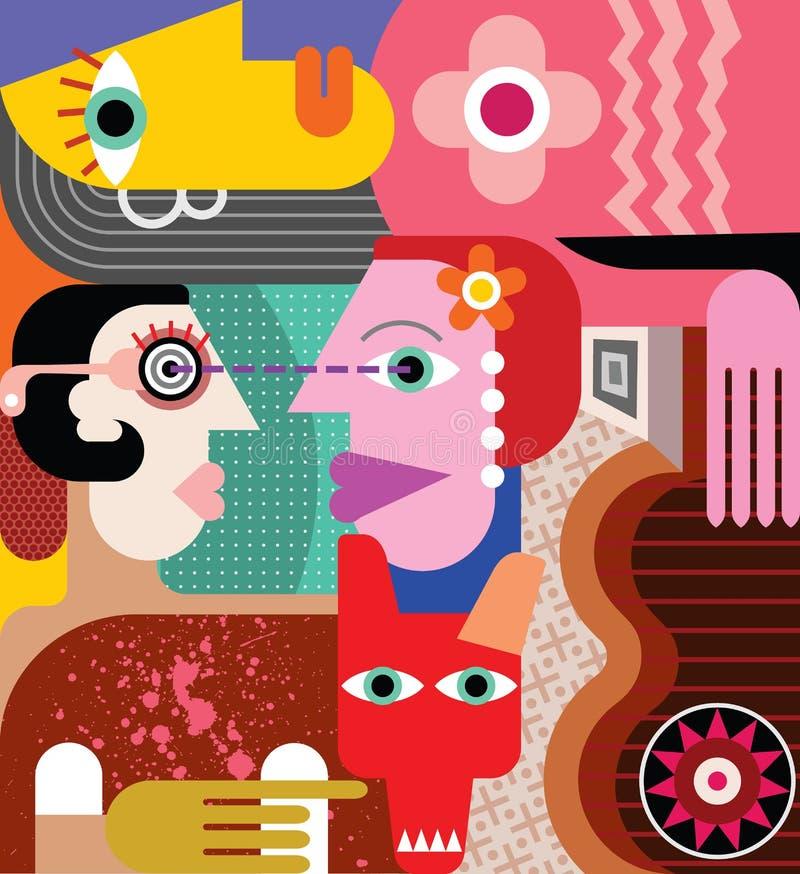 Trois femmes illustration de vecteur