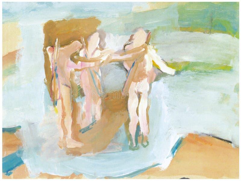 Trois figures, chasseurs 2 illustration libre de droits