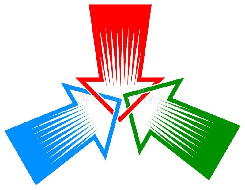 Trois flèches illustration libre de droits