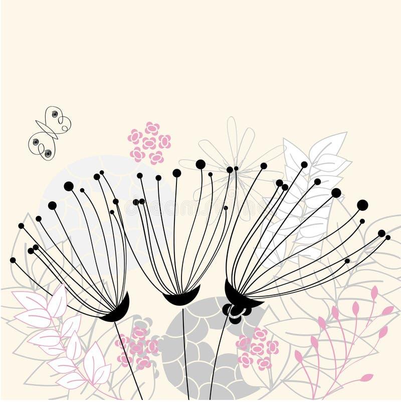 Trois fleurs illustration stock