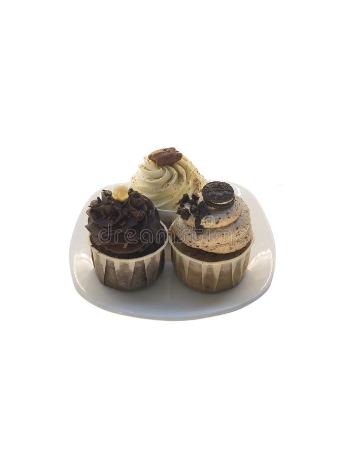Trois gâteaux de cuvette photo libre de droits