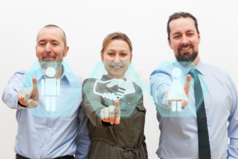 Trois gens d'affaires images libres de droits