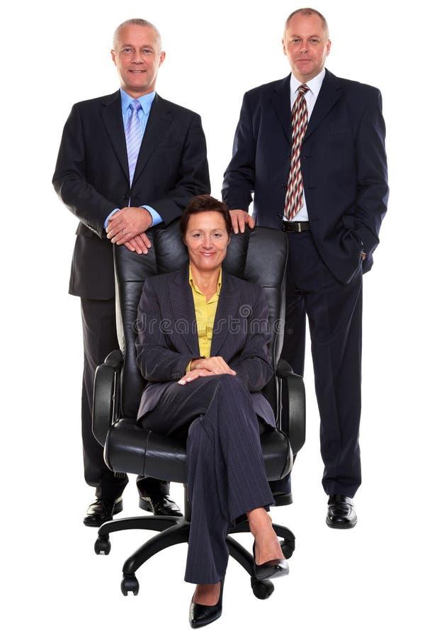 Trois gens d'affaires mûrs image libre de droits