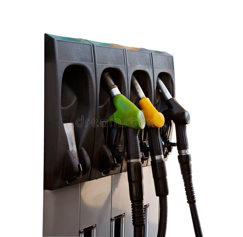 Trois gicleurs de pompe à gaz photographie stock libre de droits