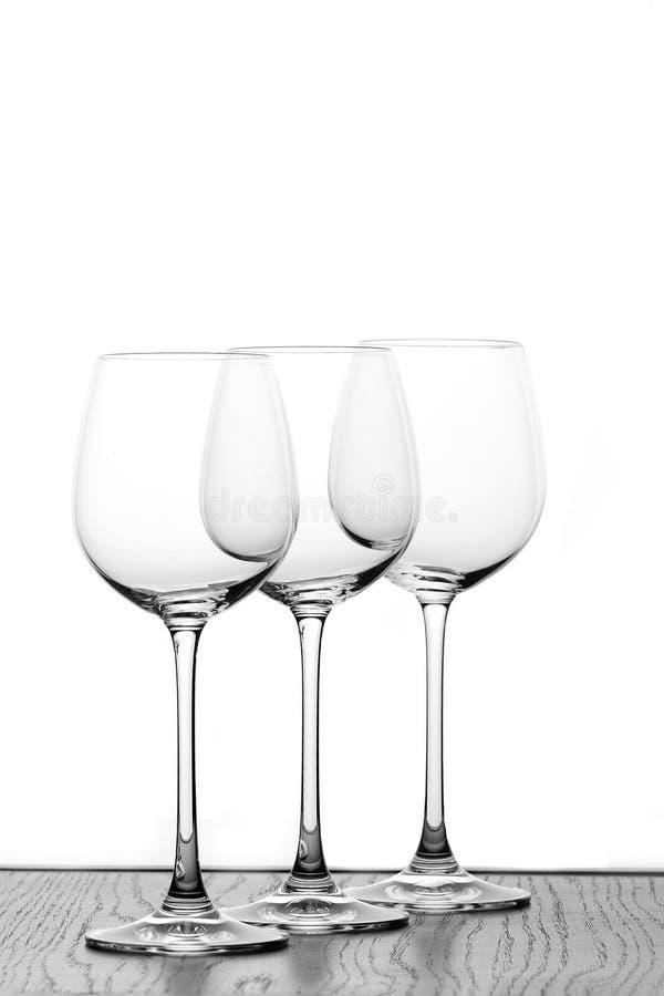 Trois glaces de vin photos libres de droits