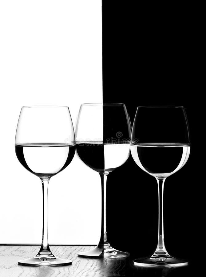 Trois glaces de vin image libre de droits