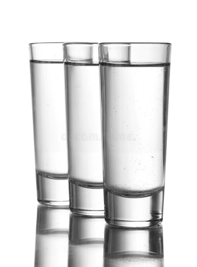 Trois glaces de vodka photo libre de droits