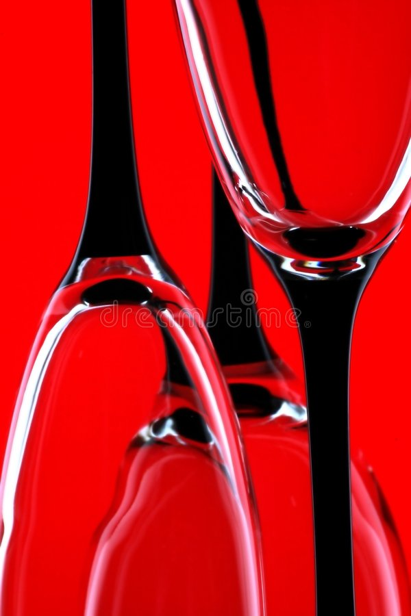 Trois glaces sur le rouge. photos libres de droits