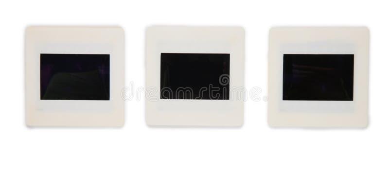 Trois glissières dans une ligne images libres de droits