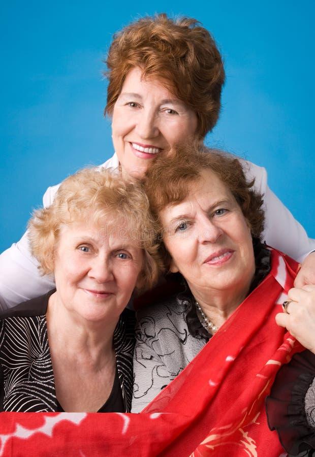 Trois grands-mères. photo libre de droits