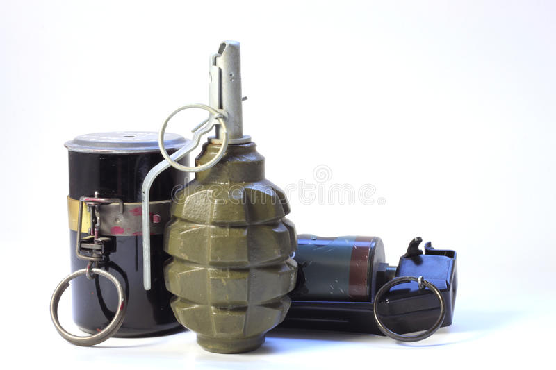 Trois grenades photo stock