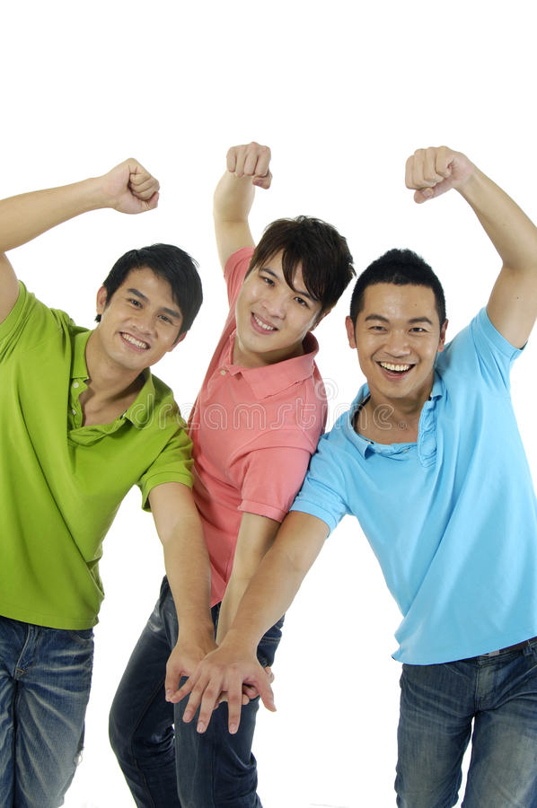 Trois hommes photos libres de droits