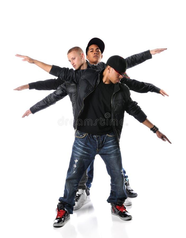 Trois jeunes hommes de Hip Hop photo libre de droits