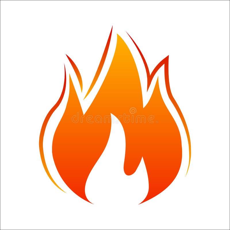 Trois langues du feu Illustration d'icône du feu illustration libre de droits