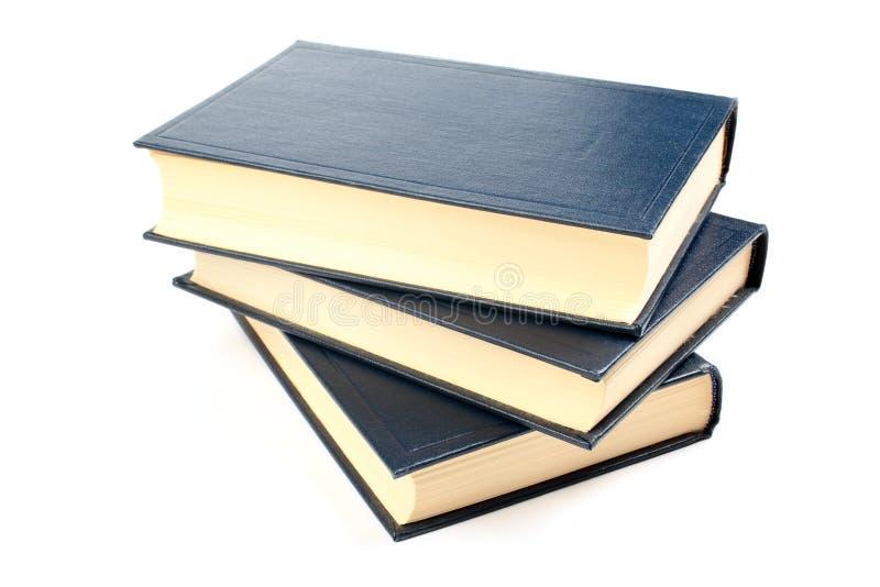 Trois livres. photographie stock libre de droits