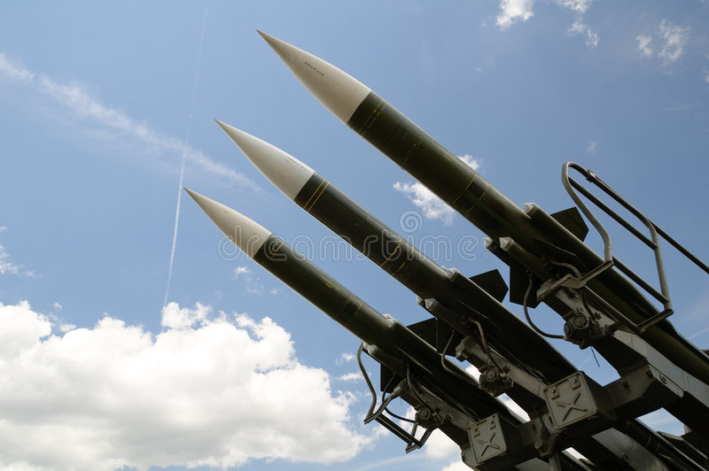 Trois missiles image stock