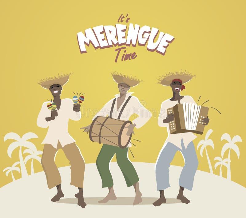 Trois musiciens latins jouant la musique latine illustration stock