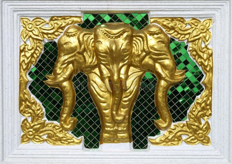 Trois ont dirigé l'éléphant images stock