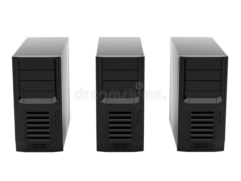Trois ordinateurs illustration stock
