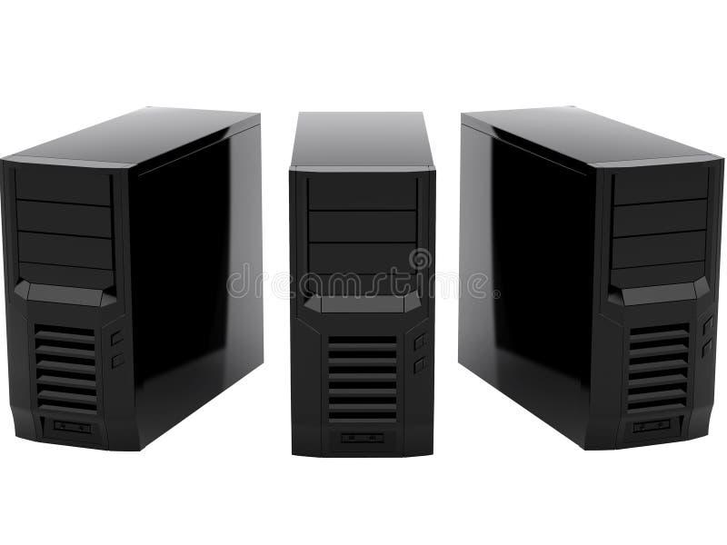 Trois ordinateurs noirs illustration de vecteur