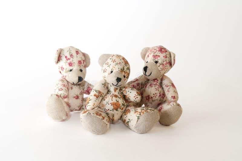 Trois ours mignons photographie stock libre de droits