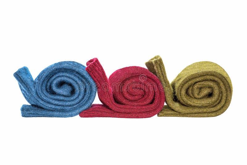 Trois paires de chaussettes de laine d'hiver photo libre de droits