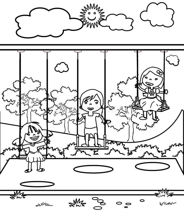 Download Trois Petits Enfants Colorant La Page Illustration Stock - Illustration du enfants, carnaval: 87702305