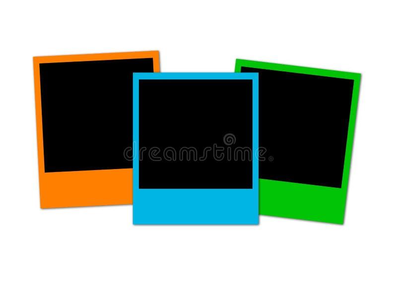 Trois photos colorées illustration stock