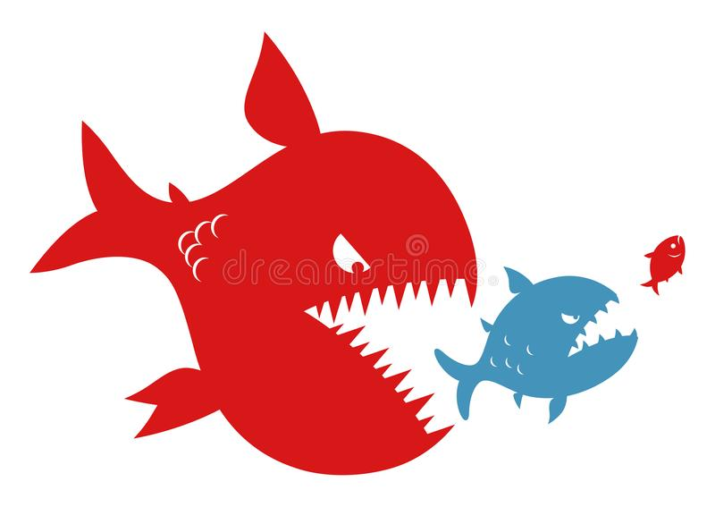 Trois poissons illustration stock