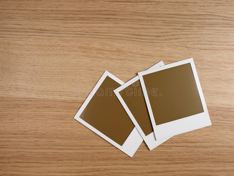 Trois polas sur le bois photos stock