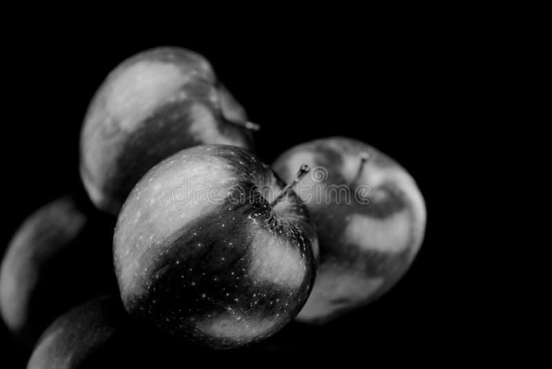 Trois pommes image libre de droits