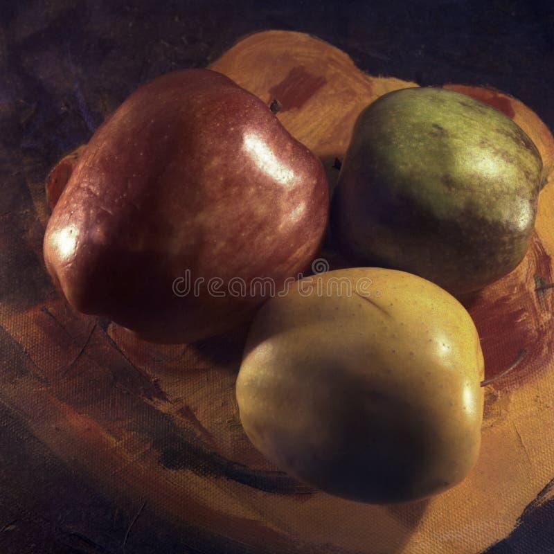 Trois pommes images stock