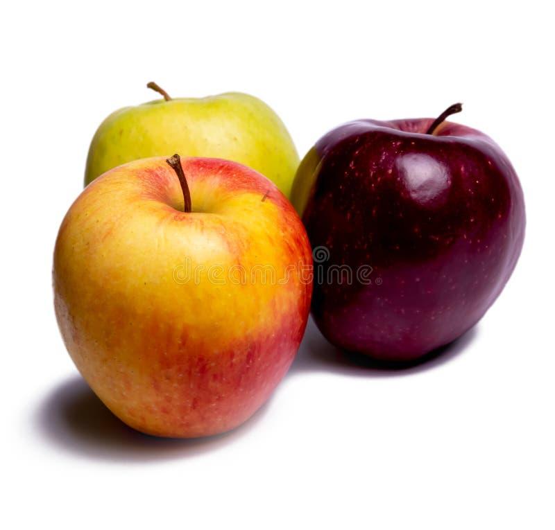 Trois pommes diff?rentes photo libre de droits