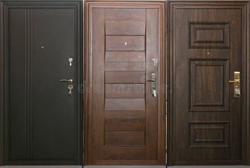 Trois portes photo libre de droits