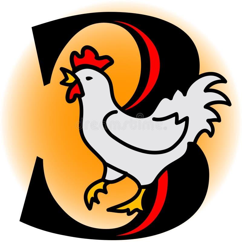 Trois poules françaises/ENV illustration stock