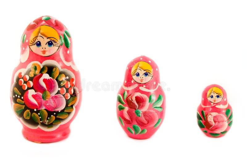 Trois poupées russes image stock